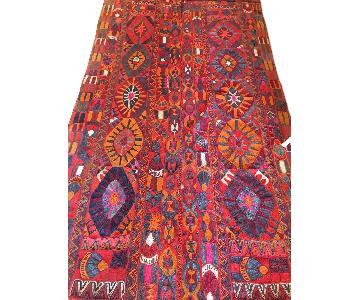 Antique Colorful Flat Weave Area Rug/Kilim