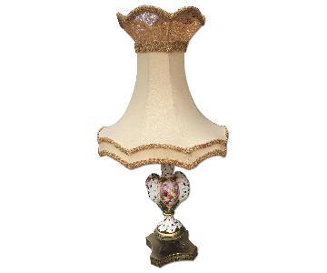 Vintage Capodimonte Style Lamp