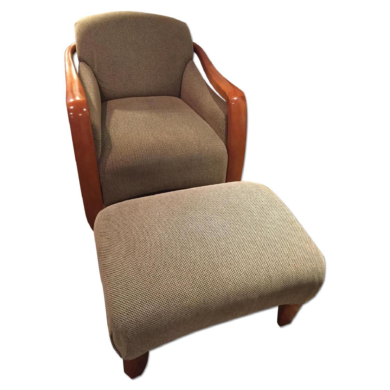 Restoration Hardware Picasso Chair & Ottoman