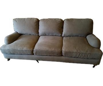 Restoration Hardware Belgian Classic Roll Arm Upholstered Sofa