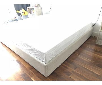 Restoration Hardware Floating King Size Belgium Linen Bed
