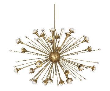 Jonathan Adler Sputnik Chandelier in Brass