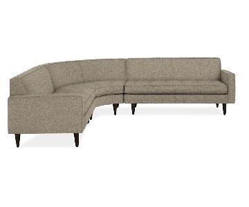 Room & Board Reese Curved Sectional Sofa