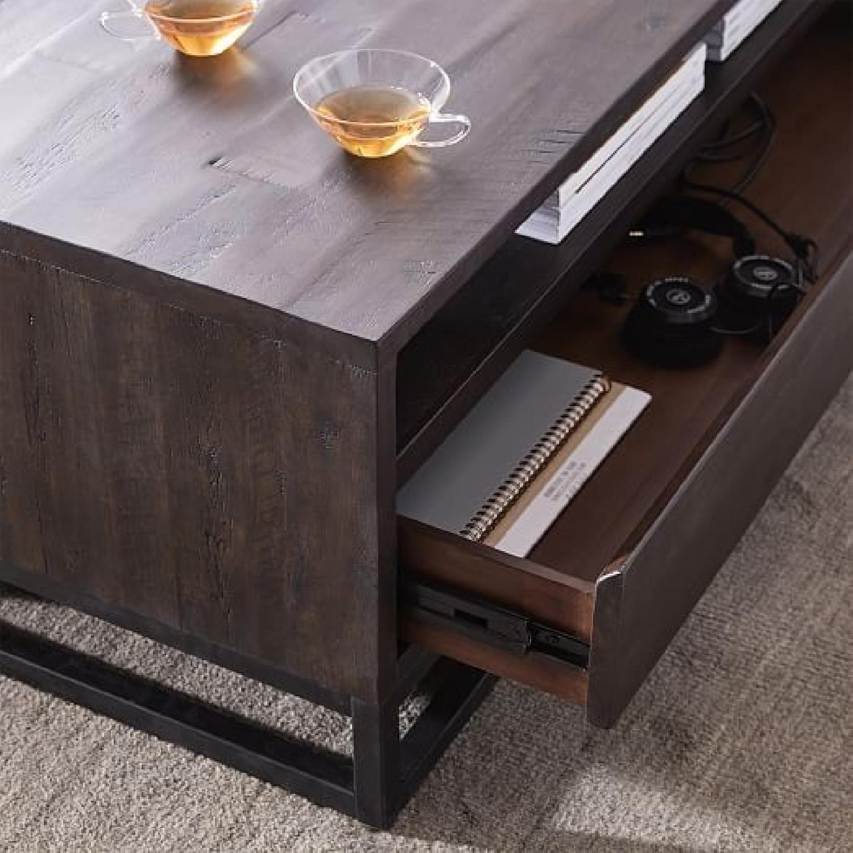 West Elm Logan Industrial Storage Coffee Table Aptdeco