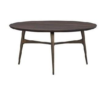 Crate & Barrel Round Mid-Century Coffee Table