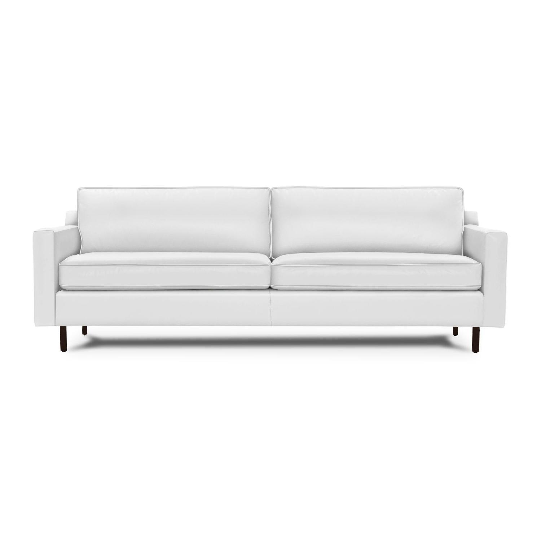 Mitchell Gold + Bob Williams Hunter Tahoe-White Leather Sofa