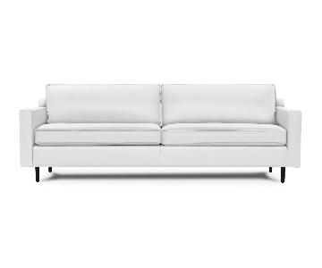 Mitchell Gold + Bob Williams Hunter Tahoe-White Leather Sofa