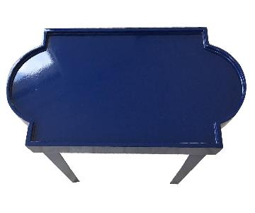 One Kings Lane Midnight Blue Lacquer Side Table