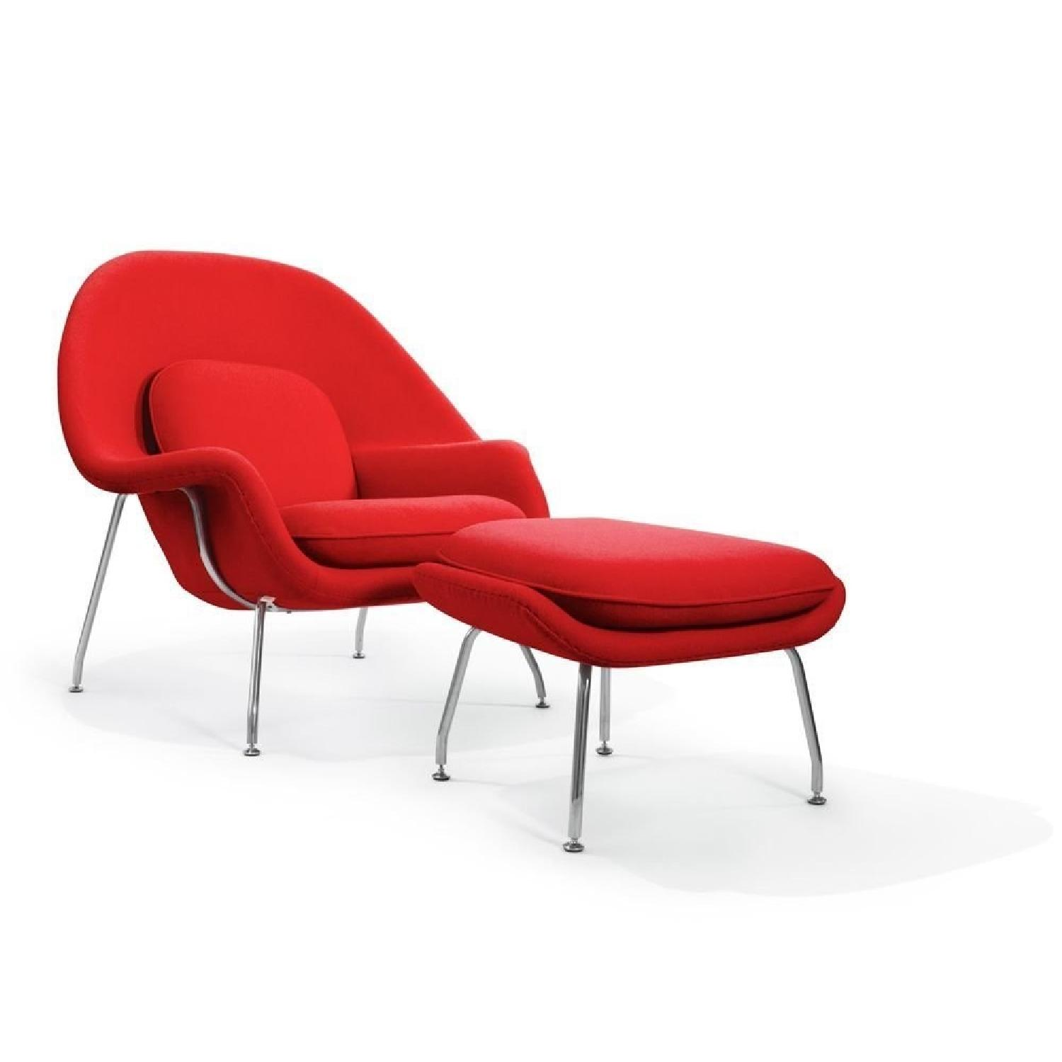 Manhatan Home Design Womb Chair in Red