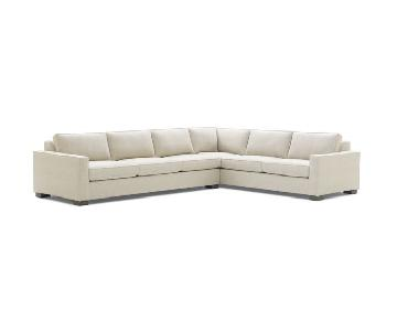 Mitchell Gold + Bob Williams Carson Sectional in Linen Beige