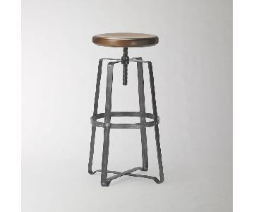 West Elm Adjustable Industrial Backless Swivel Stools