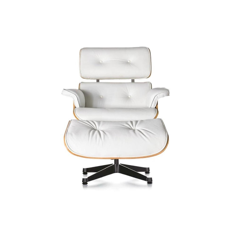 Eames Lounge Chair & Ottoman in White
