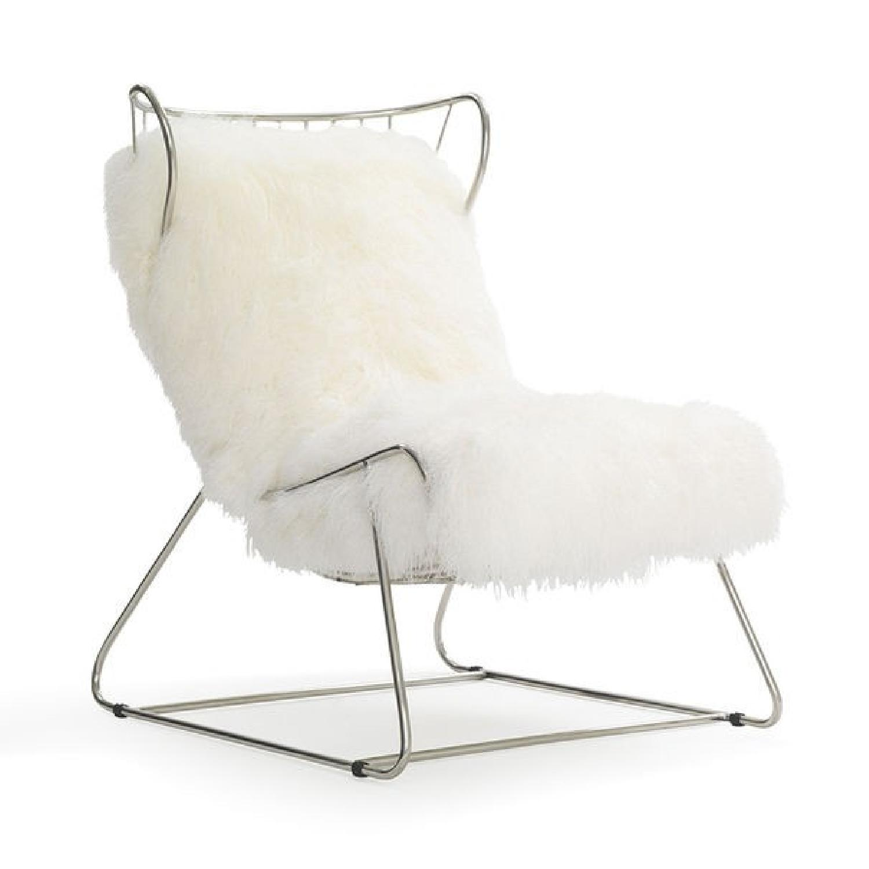 Mitchell Gold + Bob Williams Enzo Chair in Pss/White Tib Fur