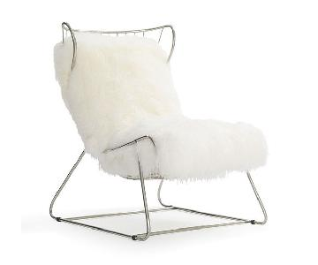Mitchell Gold + Bob Williams Enzo Chair in Pss/White Tib Fur