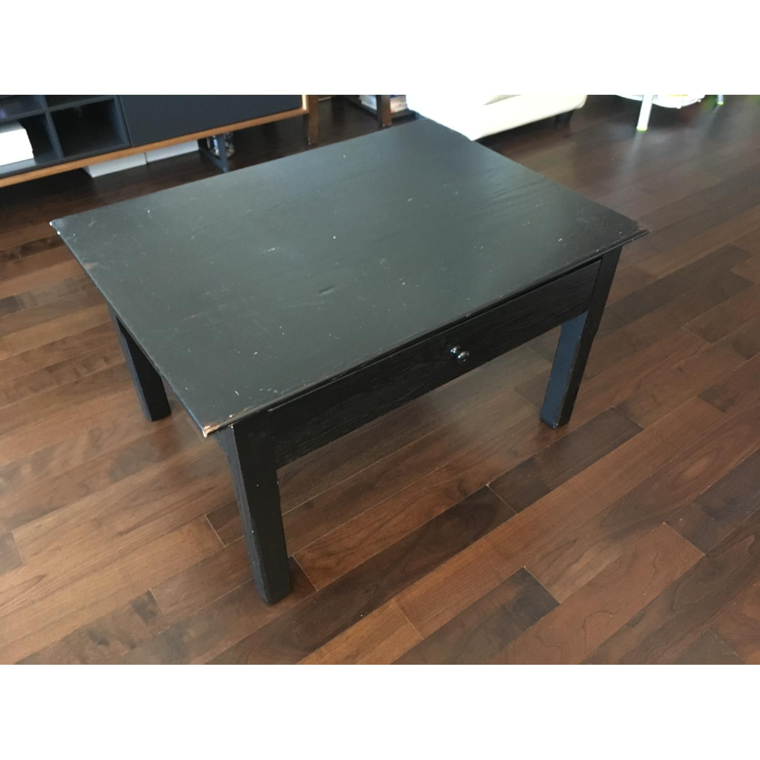 Pottery Barn Black Coffee Table w/ 1 Drawer