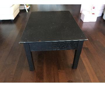 Pottery Barn Black Coffee Table w/ 1 Drawer