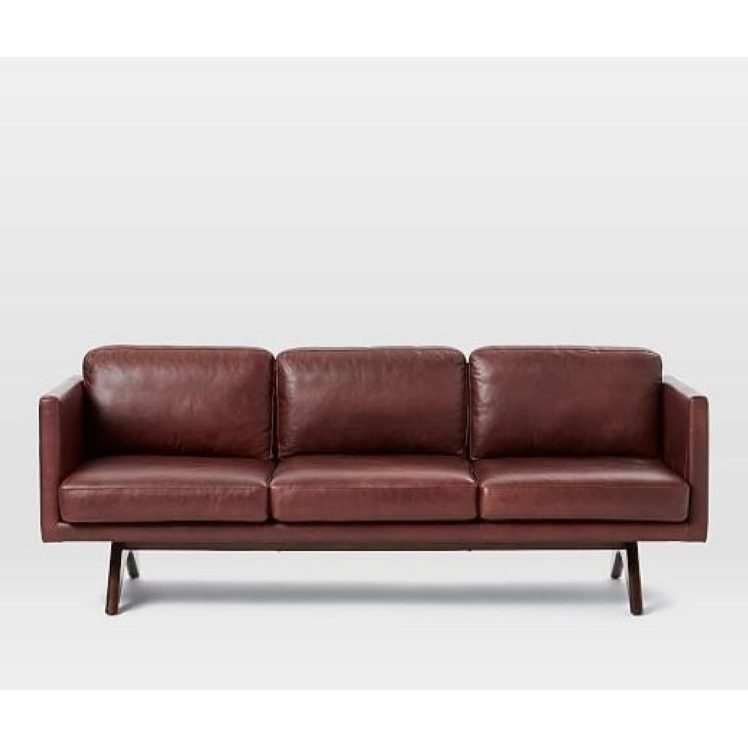 West Elm Brooklyn Sofa In Oxblood Leather ...