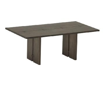Crate & Barrel Monarch Shiitake Dining Table
