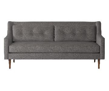 West Elm Gray Crosby Sofa
