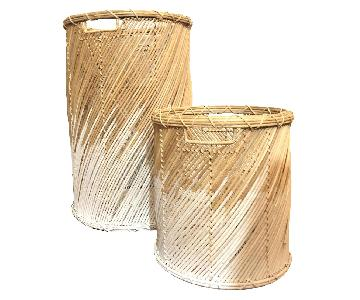 West Elm Natural Birch Wood Baskets