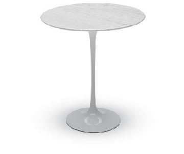 Vintage Faux Marble Top Mini Saarinen Style Tulip Side Table