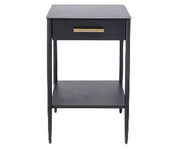 West Elm Metal Work Nightstand w/ Rolled Steel Finish
