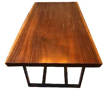 Custom Design Wooden Dining Table w/ Natural Edge