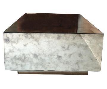 Custom Built Mirrored Side Table