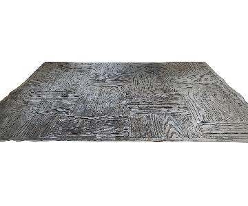 Gilt Home Faux Bois Grey Area Rug