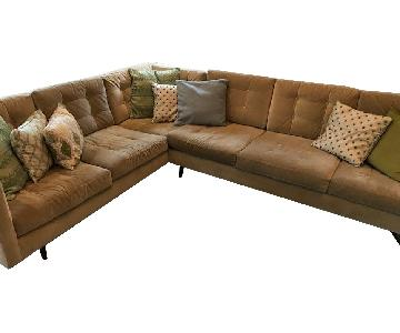 Nathan Anthony Sectional Sofa +Arm Chair in Sunbrella Fabric