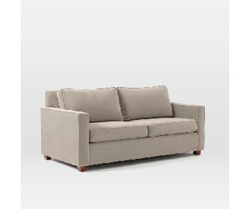 West Elm Henry Dove Grey Sofa