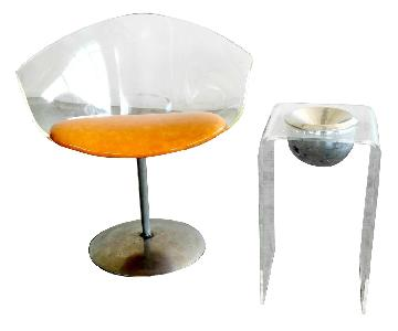 1950's Lucite Chair & Cigarette Placement Piece