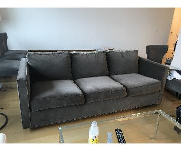 Todd Hase Sofa Upholstered in Holly Hunt Dark Grey Fabric