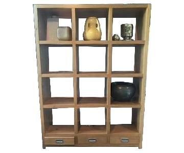 Room & Board Segment Shelving Unit in Oak
