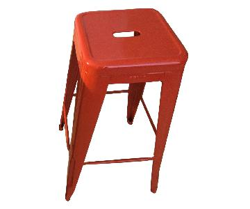 Design Within Reach Tolix Matrix Red Counter Stool