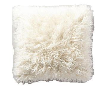 Anthropologie Shaggy Fur Pillows