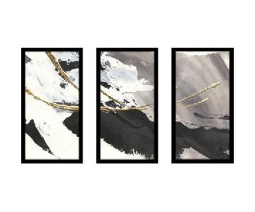 Orren Ellis Gilded Arcs I 3 Panel Art