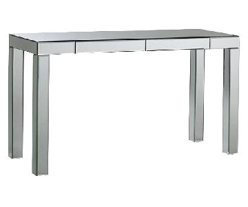 West Elm Parsons Mirrored Table w/ 2 Drawers