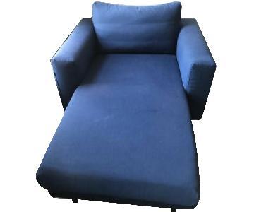 Ikea Dark Blue Chaise Lounge