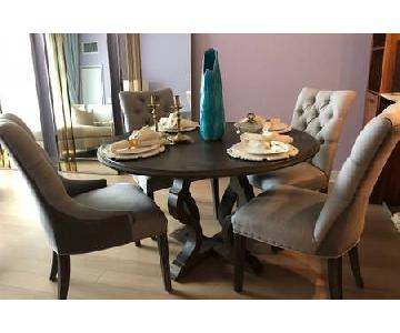 Curations Limited Oak Dining Table w/ 4 Chairs