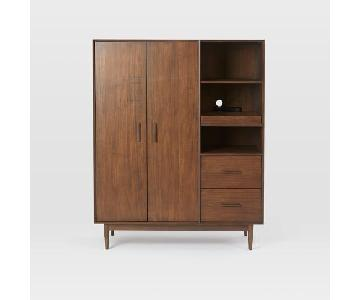 West Elm Four Points Armoire in Whisky Walnut
