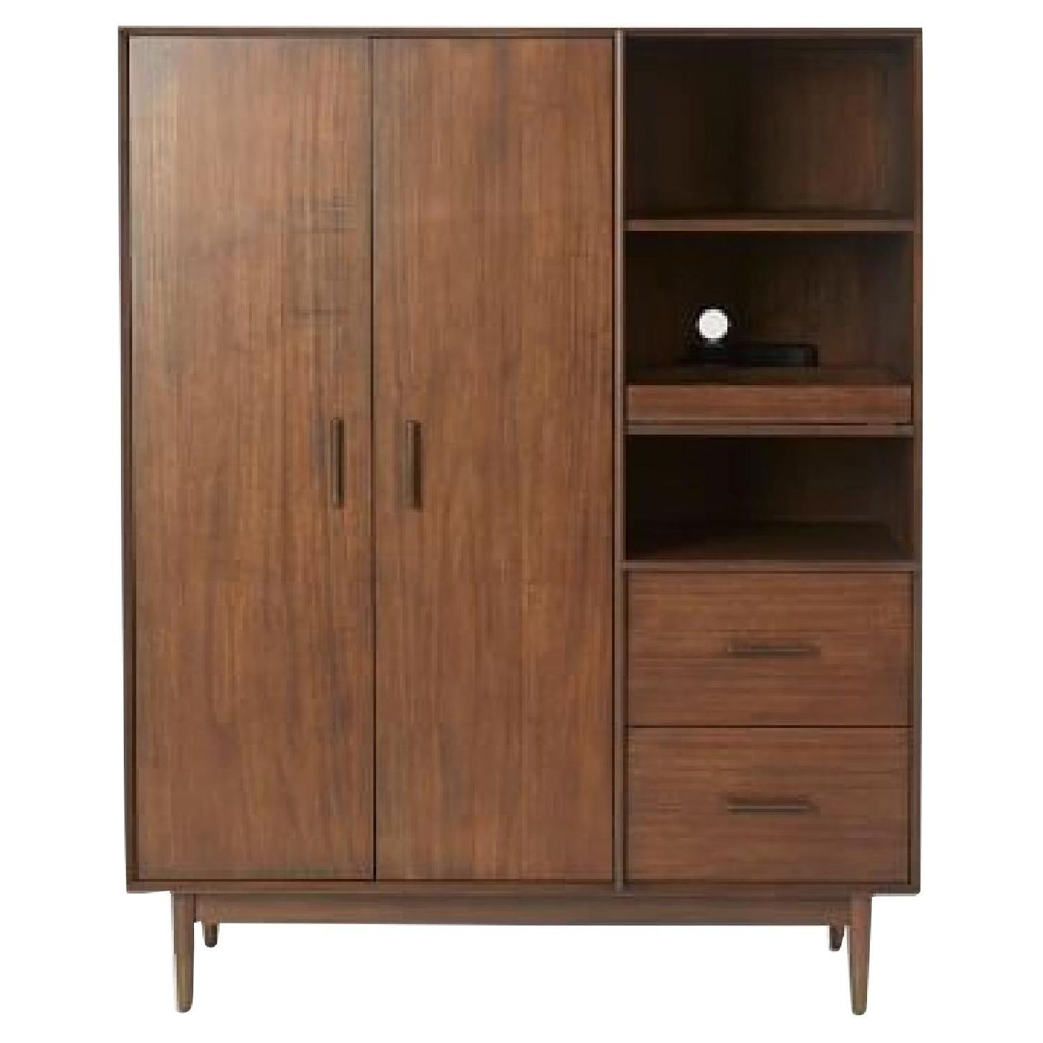 West Elm Four Points Armoire In Whisky Walnut ...