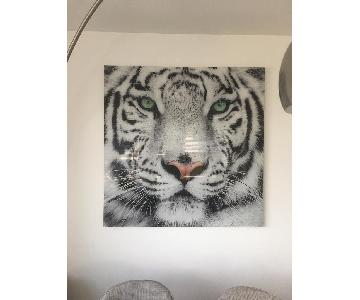 White Tiger Wall Art