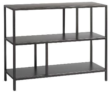 World Market Gunmetal 2 Shelf Bookcase/Console Table