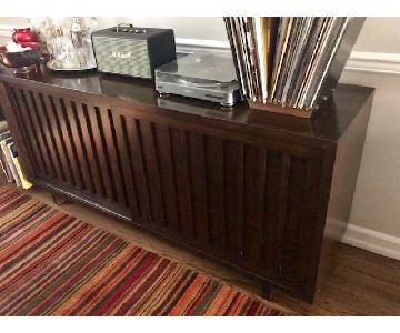 Room & Board Dark Brown Bamboo Sideboard
