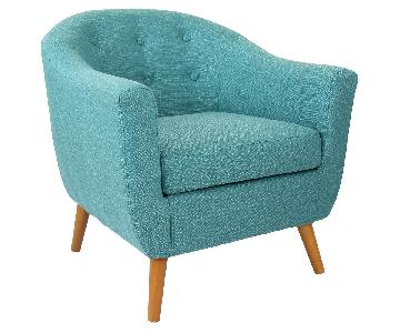 LumiSource Rockwell Teal Accent Chair