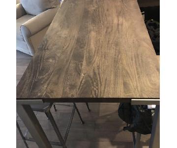 CB2 Stilt High Top Dining Table w/ 4 Bar Stools