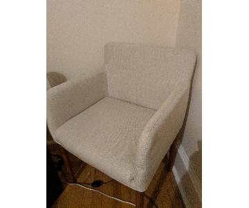 Ellis Upholstered Dining Armchair - Wheat