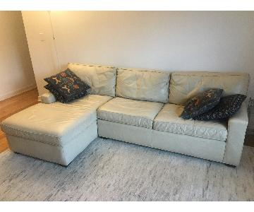 Mitchell Gold + Bob Williams Leather Sectional Sofa