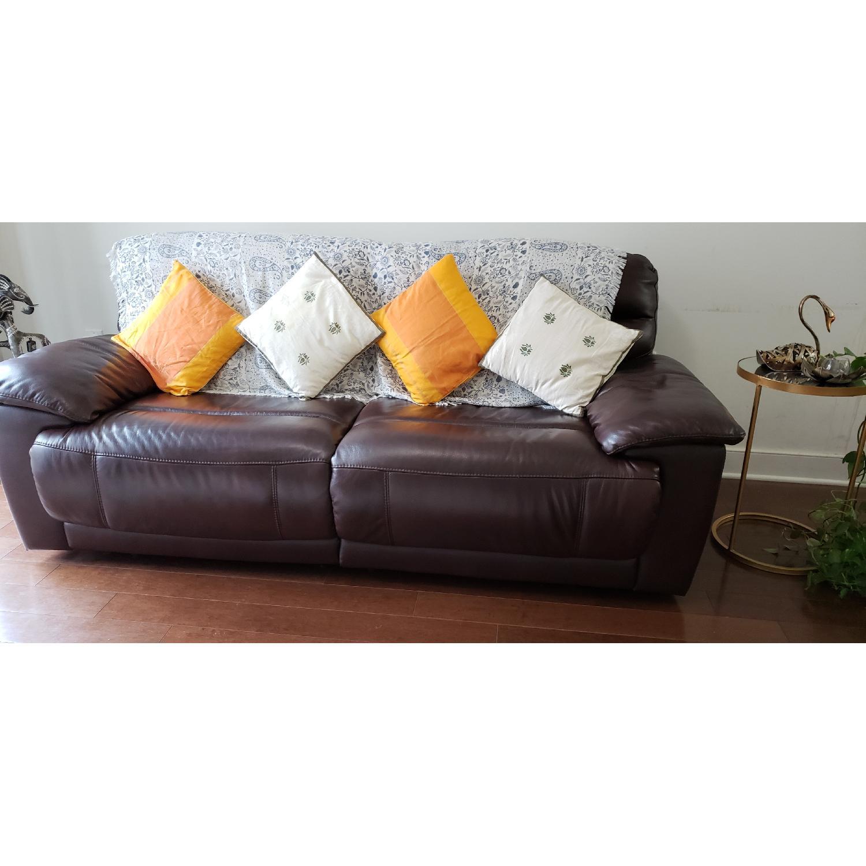... Raymour U0026 Flanigan Leather Recliner Sofa 0 ...